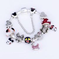 925 encantos de murano al por mayor-925 Pulsera de los granos del encanto de Murano para los niños Original DIY Jewelry Style Fit Pandora pulsera de dibujos animados joyería