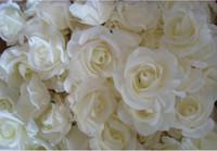 ingrosso migliori fiori di nozze artificiali-NUOVO BEST SELLER TESTE DI FIORE 100 p di seta artificiale Camellia Rose falso testa di fiore di peonia 7--8 cm per la festa nuziale decorazione domestica Flowewrs
