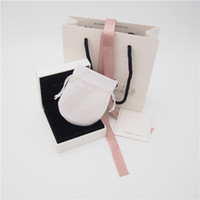 sacos de embalagem de pano venda por atacado-Pacote de alta Qualidade Conjunto Caixa De Papelão Saco De Papelão Estilo 2 Polimento Pouch Bag Para Pandora Anel Brincos Charme Bead Dangle Moda Jóias