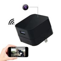 usb cámara de detección de movimiento al por mayor-Cargador USB inalámbrico cámara Cam HD 1080 P WIFI Adaptador de cargador USB Mini cámara Detección de movimiento para el hogar Compatibilidad de seguridad APLICACIÓN