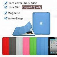 Wholesale orange ipad mini cover - 1PC Nice thin magnetic smart cover+back case for 2017 ipad air 1 2 mini 1 2 3 4 Pro 9.7 10.5