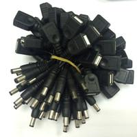 güç dc kablo türleri toptan satış-4 adet / grup USB Tip-A Kadın Erkek DC 5.5x2.1mm Konnektör Adaptörü Güç Kablosu