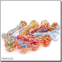 """glass smoking pipe Manufacture hand-blown and beautifully handcrafted,spoon pipe 4"""" 80g Made of high quality"""