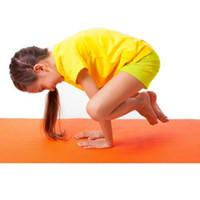 Wholesale dance mat pad - Childrens 10MM NBR Yoga Mats For Kids Exercise Pilates Blanket Thick Non-Slip Tasteless Fitness Pad Children Dance Mat 150*61*10