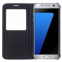 windows mobile iphone оптовых-Для S9 S8 Plus кожаный флип чехол для мобильного телефона для Samsung Galaxy S7 вид из окна противоударный чехол для Iphone 7 Galaxy S7 EDGE Примечание 5 Новый