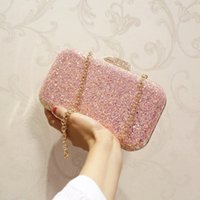 Wholesale new fashion korean handbag - Autumn and winter of 2018 new female package Korean version sequin yuan dinner bag handbag woman bag chain Xiao Fang bag