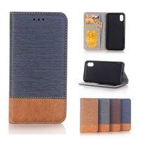 galaxie-notenbeutel großhandel-Cross Texture Leder Brieftasche Handy-Hüllen für iPhone X Galaxy S9 Plus Hinweis 8 Wallet Pouch mit Kartensteckplatz