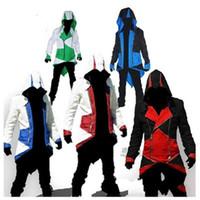 assassine kaufte neue jacke großhandel-Halloween Weihnachten Jacke Jacke Cosplay Neue Ankunft Comic Creative Connor Spiel Kleidung Assassins Creed Einfach Zu Verwenden 55td dd