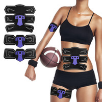 Wholesale electronic stimulator - Abdominal Muscle Stimulator Exerciser Device Abdominal Trainer Smart Body Building Fitness Electronic Muscle Arm Leg Training
