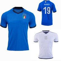 Wholesale italy home - 2018 2019 Italy soccer jerseys EL SHAARAWY PIRLO BONUCCI DE ROSSI INSIGNE VERRATTI CHIELLINI home away football jersey shirts