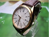 Wholesale thin brown leather belt - Watch male belt ultra-thin fashion quartz watch waterproof male female students contracted leisure leather couples on the table