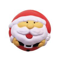 novo pinguim venda por atacado-Original New Squishy Natal Papai Noel Boneco de Neve Pinguim Lento Rising Jumbo Pingente Straps Suave Squeeze Presente Kid Fun Toy