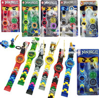 Wholesale ninja building toys - NINJA minifigures Super hero ninja mini Building blocks Original box Watch Bricks Compatible lepines Toys for children gift