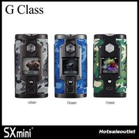 Wholesale android bluetooth app - Authentic SXmini G Class Vape Mod SX MINI G Class Limited Edition-Camouflage Mod with Bluetooth App Control (Android&iOS) Powered by YiHi SX