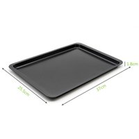Wholesale oven plates resale online - Eco Friendly E Show Inch Rectangle Carbon Steel Non Stick Baking Pan Cookies Plate Cake Mold Use In Oven Base Tray Black
