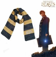 Wholesale Beast Man Costume - Hot Sale Scarves Fantastic Beasts and Where To Find Them Newt Scarves Harry Potter Sequel for Men Women Cosplay Costume Christmas Gift