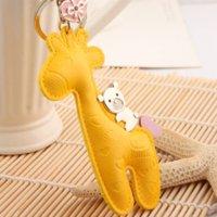 elementos innovadores clave al por mayor-Milesi artículos innovadores llavero de cuero Trinket Key Holder Mujeres Regalo de La Novedad de Navidad encantador bolso colgante encanto D0149