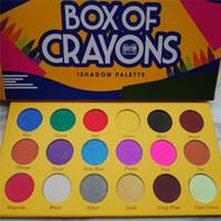 caja de purpurina sombra de ojos al por mayor-Paleta de sombras de ojos maquillaje BOX OF CRAYONS Sombra de ojos iShadow Palette 18 Color Shimmer Matte Eyeshadow Palette entrega gratuita