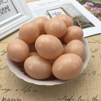 Wholesale back drawings online - Restaurant Kitchen Decor Fake Eggs Model Props Diy Hand Painted Toys Kindergarten Coloured Drawing Artificial Eggs For Kids ht jj