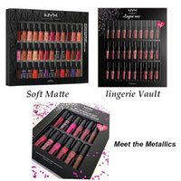 Wholesale 12pcs lingerie - Dropshipping NYX SOFT MATTE LIP CREAM 36pcs Lingerie Vault 30pcs Meet the Metallics 12pcs Matte Liquid Lipstick