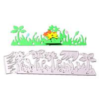 ingrosso tagli di erba-Taglio muore l'erba per le carte Scrapbooking e Paper Crafts Cartella per goffratura Macchine per carta artigianale fai-da-te