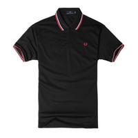 camisas de poliéster venda por atacado-Polo Homem Camisa de Marca de Lazer De Luxo Camisa para Homens Moda Poliéster Cor Sólida Casual Solto Esporte de Verão Plus Size S-4XL