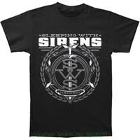 camisas de color gris al por mayor-Diferentes colores de alta calidad para dormir con sirenas para hombres '; Camiseta S Gray Crest Small Black