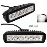 12v atv ışıkları toptan satış-6 INÇ 18 W MINI Offroad Kamyon Traktör Için LED Işık Çubuğu LED İş Işık Spot Sel DRL SUV ATV 4X4 Sürüş Işık 12 V 24 V