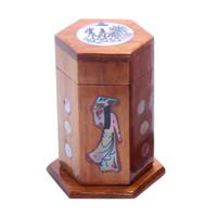 caja de decoración china al por mayor-Artículo de decoración de estilo chino de la vendimia Artículo retro DIY único titular de la caja de palillo de madera decoración del hotel en casa regalos de boda