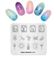 placas de sello para las uñas al por mayor-Nueva Llegada de Moda 014 Nail Art Stamping Plates Plantilla de Estampado de Manicura Placas de Imagen Nail Stamp Plate Imprimir Stencil