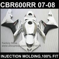 ingrosso corpo personalizzato cbr-Body per iniezione bianco lucido lucido per carene CBR 600 RR 07 08 custom faCBR600RR 2007 2008