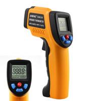 termómetro de contacto industrial al por mayor-Termómetro infrarrojo sin contacto Pantalla LCD láser IR Infrarrojo Pirómetro digital láser Termómetro al aire libre Para uso doméstico de la industria + NB