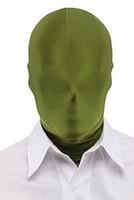 olivgrüner catsuit großhandel-Kid Adult Zentai Kostüm Olivgrün Alle Hood Maske Halloween Zubehör