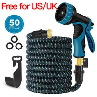 Wholesale expandable hose connector online - Expandable Garden Hose FT Flexible Water Hose High Pressure Spray Nozzle Solid Brass Connector Fittings Free for US UK pls contact us