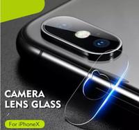 protector de pantalla de gafas templadas paquete de venta al por menor al por mayor-Soft Tempered Glasses 2.5D Volver Lente de la cámara Anti Scratch Fiber Screen Protector Film para iPhone XS MAX XR X 8 con paquete al por menor