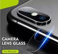 ingrosso protezione temperata dello schermo di vetro per il iphone-Vetri temperati morbidi 2.5D Back Camera Lens Pellicola salvaschermo in fibra di vetro antigraffio per iPhone XS MAX XR X 8 con confezione al dettaglio