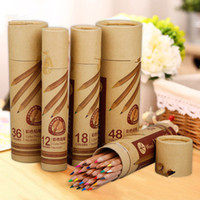 Wholesale art supplies set for kids for sale - Group buy 12 wood colored pencil set for school kid drawing office art supply gift color pencils
