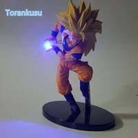 afficher des chiffres achat en gros de-Dragon Ball Z Action Figure Son Fils Goku Kamehameha Led Lumière Diy Affichage Jouet Esferas Del Dragon Freeza Jouet Dbz + Lumière Diy09