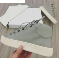 Wholesale arena sizes - Name Brand Original Box Wine Red Black Kanye West Arena Casual Shoe Man Fashion Lace Up High Top Sneaker Trainer Shoes Size 39-46