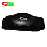 göğüs kemeri monitörü toptan satış-SunDing Açık Kalp Hızı Monitörü Göğüs Kemeri Bluetooth 4.0 Kablosuz Bant 70-120 cm Bisiklet ANT Akıllı Sensör