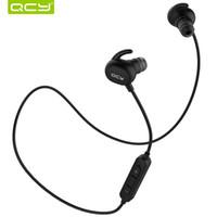 b84c4fdead2 QCY QY19 A prueba de sudoración IPX4 auriculares bluetooth 4.1 auriculares  deportivos inalámbricos con auriculares aptx auriculares estéreo con  micrófono