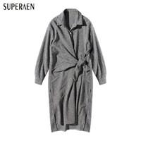 Wholesale Korean Night Fashion - SuperAen 2018 New Korean Style Women Dress Cotton Fashion Casual Wild Ladies Dress Spring Loose Long Sleeve Women