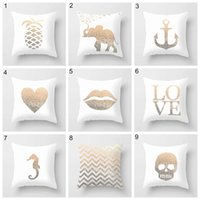 Wholesale pineapple patterns - 25 Styles simple English pillowcase print pineapple pillow case bed sofa waist cushion cover car hom decor peach fleece pillowcase