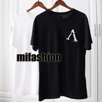 Wholesale white forever - 18ss Luxury Europe Paris Forever Reverse Logo Pocket Tshirt Fashion Men Women Homme T Shirt Casual Tee