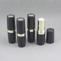 parlak çubuk toptan satış-TM-LP4530 DIY boş dudak sopa şişe ile parlak siyah şeffaf kapak tasarımı ile boş dudak sopa konteyner paketi 500 adet / grup