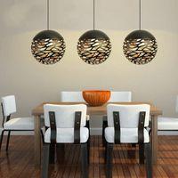 ingrosso lampada moderna edison bulb-Lampada a sospensione moderna in metallo con pendente in metallo con attacco E27, stile tagliato, nuovo stile per soggiorno, spedizione gratuita
