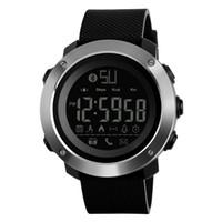dijital bluetooth akıllı saat toptan satış-Moda Erkekler Kadınlar Akıllı İzle SKMEI Lüks Android IOS Sistemi için Bluetooth Kamera Pedometre Spor Saatler Dijital Kol Saati