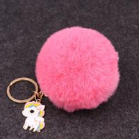 Wholesale led flashlight online - Fashion Men Women Plush Unicorn Key Buckle Rex Rabbit Metal Alloy Pendant Bag Car Exquisite Keychain For Decoration bm ff