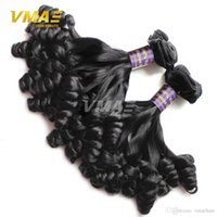 Wholesale human loose curl hair bundles resale online - Brazilian Bouncy Curly Virgin Human Hair Weaves Bundles Deal Funmi Hair Extensions A Brazilian Virgin Tip Curl Hair Bundles