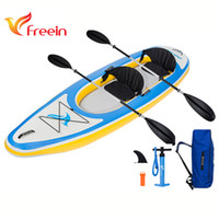 Wholesale Inflatable Kayaks - Freein Inflatable Kayak Fishing Boat 2 Seats for entertainment,fishing with Accessories, bag,pump and repair kit